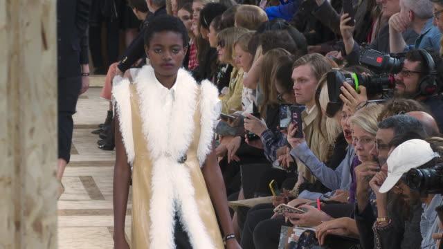 miu-miu ss20 runway at paris fashion week on october 1, 2019 in paris, france. - fashion week stock videos & royalty-free footage