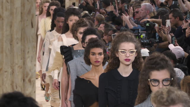 miu-miu ss20 runway at paris fashion week on october 1, 2019 in paris, france. - fashion show stock videos & royalty-free footage