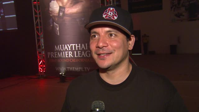 mix master mike on what he knows about muay thai on attending muaythai premier league's opening night on if he's excited about the new league on his... - muay thai stock videos and b-roll footage