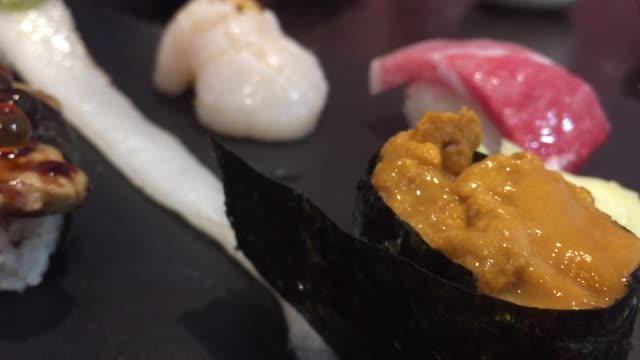 mix raw sushi - japanese food style - wasabi stock videos and b-roll footage