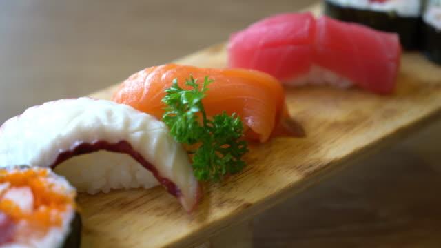 mix raw sushi - japanese food style