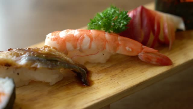 mix raw sushi - japanese food style