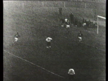 mix up in hungarian defence leads gyula grosics to concede penalty which alf ramsay converts to make it 3-6, england vs hungary, international... - eastern european culture stock videos & royalty-free footage