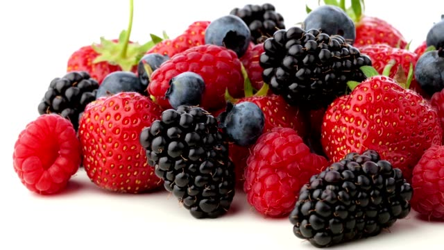 mixed berries - antioxidant stock videos & royalty-free footage