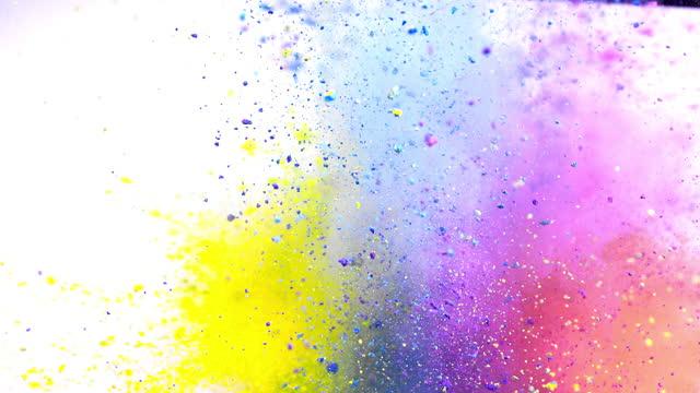 混合色粉爆発スーパースローモーション - 爆発点の映像素材/bロール