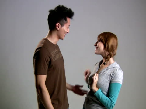 mixed couple flirts - cambodian culture stock videos and b-roll footage