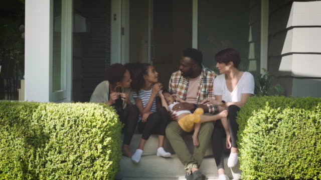 mixed race family at home - diversity stock videos & royalty-free footage