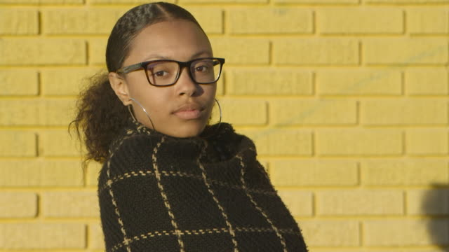 mixed race teen portrait