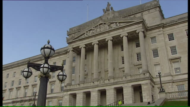 mixed shots of stormont northern ireland's parliament buildings - stormont stock videos and b-roll footage