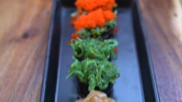 mixed sushi set - japanese food style