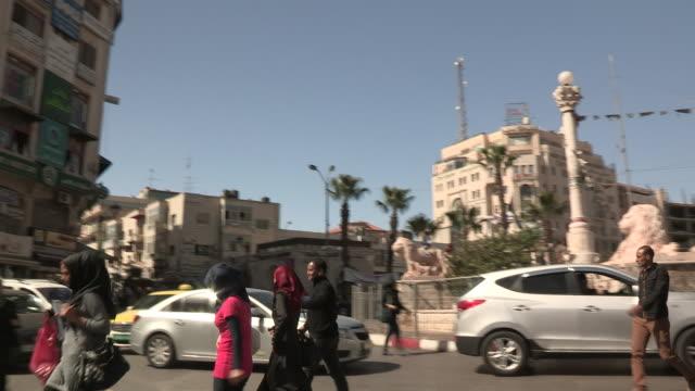 Mixed Traffic Downtown, Ramallah, Palestine