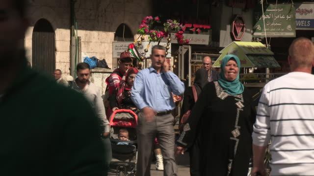 mixed traffic, ramallah, palestine - palestinian stock videos & royalty-free footage