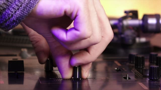 mixer dj with turntable and vinyl - funky stock videos and b-roll footage