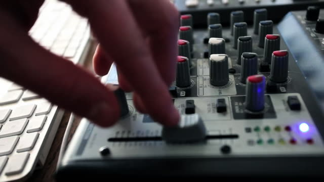 mixer - equaliser stock videos & royalty-free footage