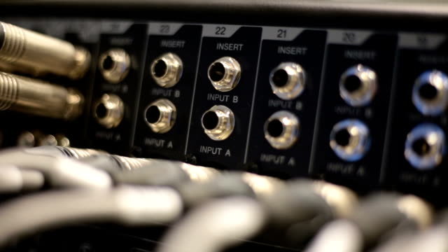 mixer - plug socket stock videos and b-roll footage