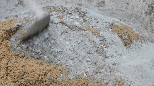 mixing cement for the preparation of construction,dolly shot - classified ad stock videos & royalty-free footage
