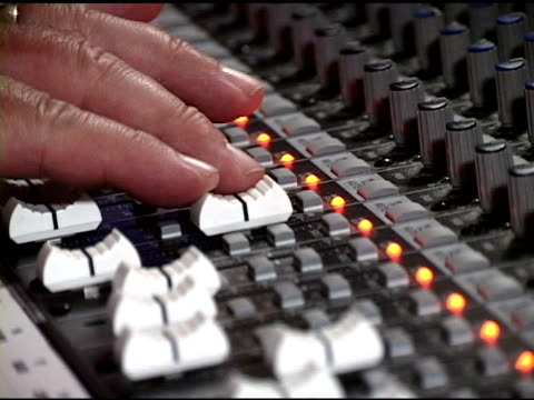 mixing console for audio (ntsc-dv) - electronics stock videos and b-roll footage