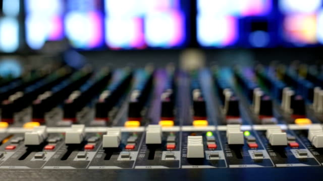 mixing console. - television studio stock videos & royalty-free footage
