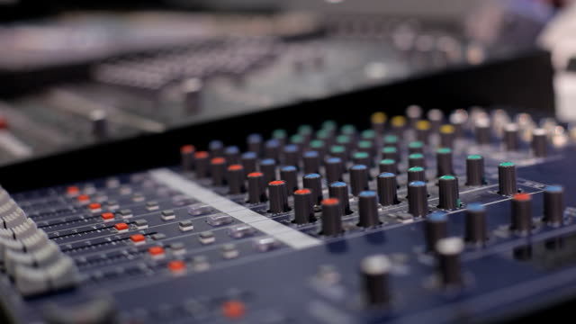 mixing desk - audio equipment stock videos & royalty-free footage