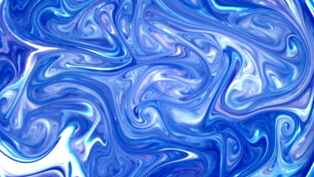 mixing liquids. blue and white creating swirl pattern - pastel stock videos & royalty-free footage