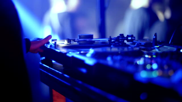 dj mixing music at club - setting stock videos & royalty-free footage