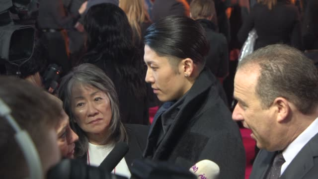 miyavi at 'unbroken' uk film premiere at odeon leicester square on november 25 2014 in london england - odeon leicester square stock videos and b-roll footage