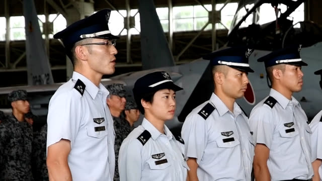 shintomi miyazaki prefecturejapan's first female fighter pilot will make her debut on aug 24 1st lt misa matsushima will be assigned to the air... - japan self defense forces stock videos and b-roll footage