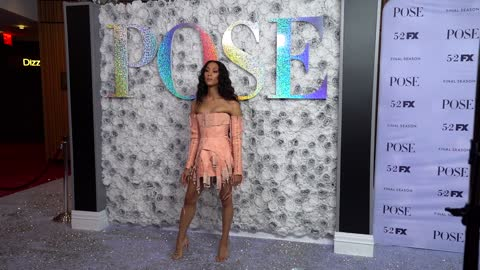 """mj rodriguez at fx's """"pose"""" season 3 new york premiere at jazz at lincoln center on april 29, 2021 in new york city. - premiere stock videos & royalty-free footage"""