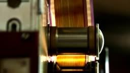 35 mm film strip. movement film strip.