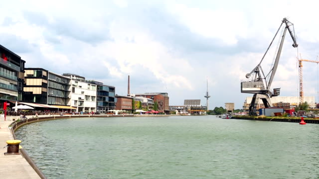 münster harbor in nordrhein westfalen, time lapse - ruhr stock videos & royalty-free footage