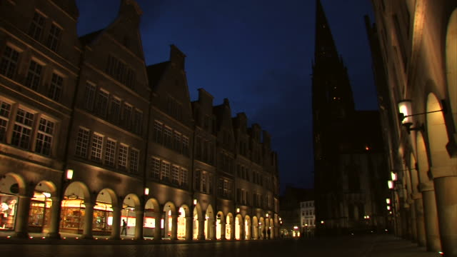 Münster in the night - Prinzipalmarkt, Germany