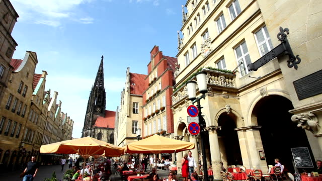 münster prinzipalmarkt - time lapse - ruhr stock videos & royalty-free footage