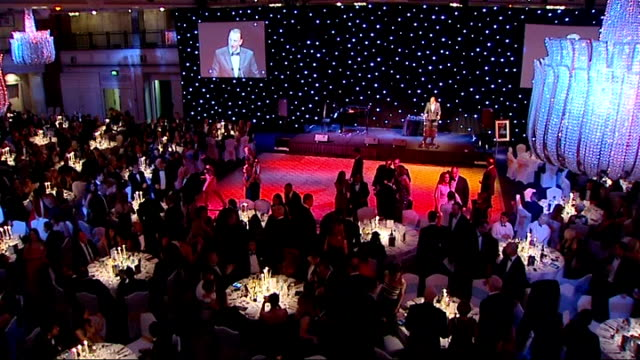 Mo Farah Foundation fundraising dinner 1912 London Grosvenor House Hotel THROUGHOUT*** Mo Farah at Night of Champions event in aid of famine victims...