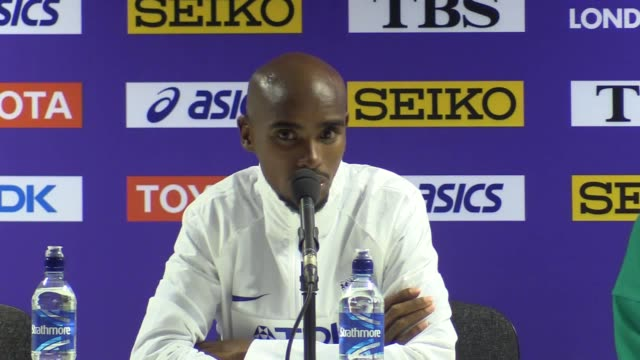 Mo Farah press conference after after winning silver medal in the 5000m at athletics World Championships in London