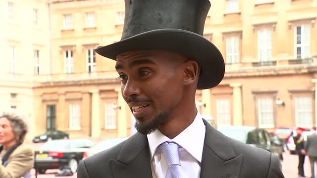 Mo Farah receives knighthood EXT Sir Mo Farah interview SOT Very special day for me and my wife never dreamed of meeting the Queen and getting...
