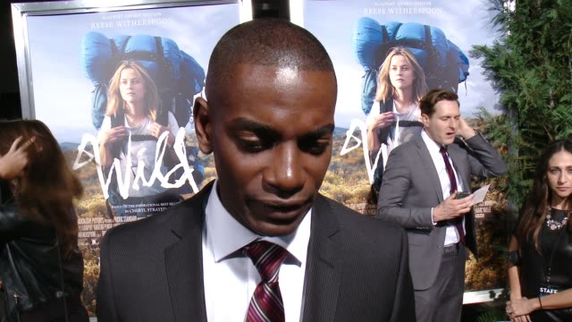 interview mo mcrae on the film and what he hopes the audience takes away from it at 'wild' los angeles premiere presented by fox searchlight at the... - 映画芸術科学協会点の映像素材/bロール