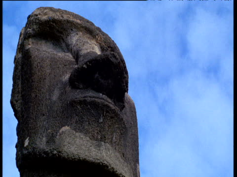 moai head - polynesian culture stock videos & royalty-free footage