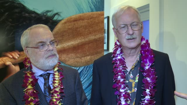 vídeos de stock e filmes b-roll de moana film launch ron clements john musker interview sot capturing actors in their 'moment' / comparing dwayne johnson to robin williams / thought... - robin williams ator
