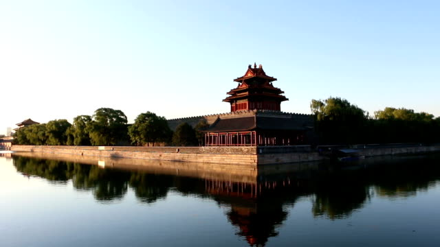 Moat and the imperial palace in Beijing,China.