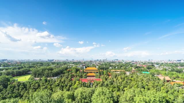 Douves et le palais impérial à Pékin, China.Timelapse.