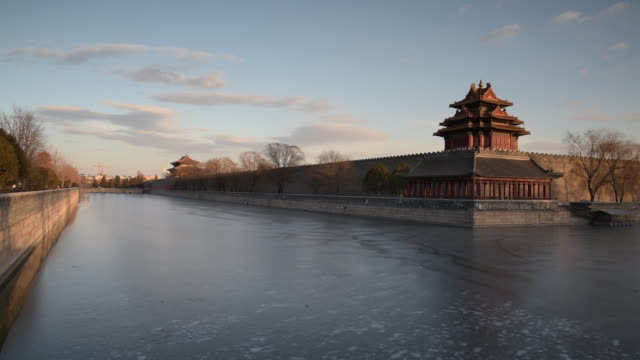 moat of forbidden city 20150204 - moat stock videos & royalty-free footage
