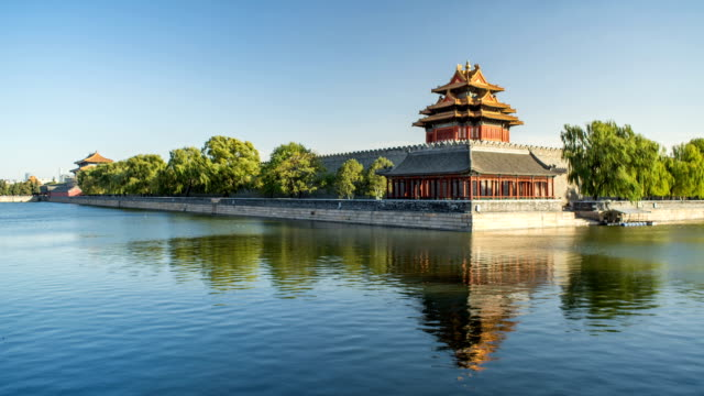 t/l moat of forbidden city - forbidden city stock videos & royalty-free footage