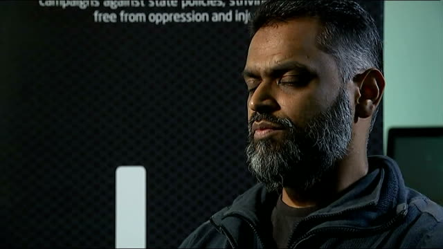 moazzam begg claims he offered to help government secure release of british hostage alan henning; england: london: int moazzam begg interview sot - i... - moazzam begg stock videos & royalty-free footage