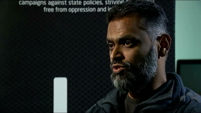 moazzam begg claims he offered to help government secure release of british hostage alan henning; moazzam begg interview sot - i know what it's like... - moazzam begg stock videos & royalty-free footage