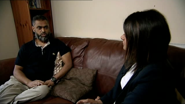 vídeos de stock, filmes e b-roll de begg interview england birmingham int moazzam begg interview sot pleased and relieved to be home / i had on my side the moral argument the political... - moazzam begg