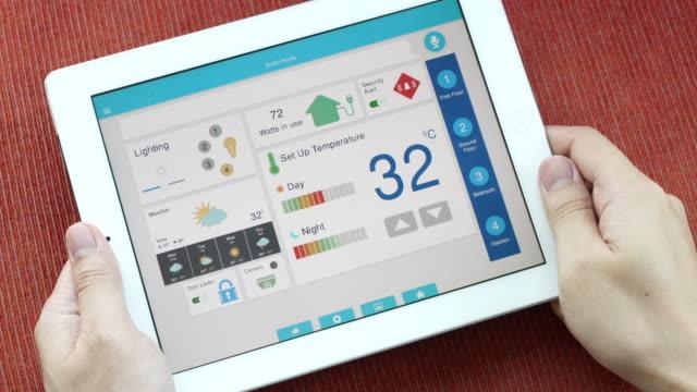 Application mobile pour la domotique et de la technologie maison intelligente - réglage de la température