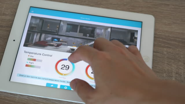 Mobile application for Home Automation and smart home technology - Temperature adjustment