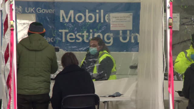 mobile covid-19 testing centre in ealing, trying to identify any strains of the south african coronavirus variant in the community - identity stock videos & royalty-free footage