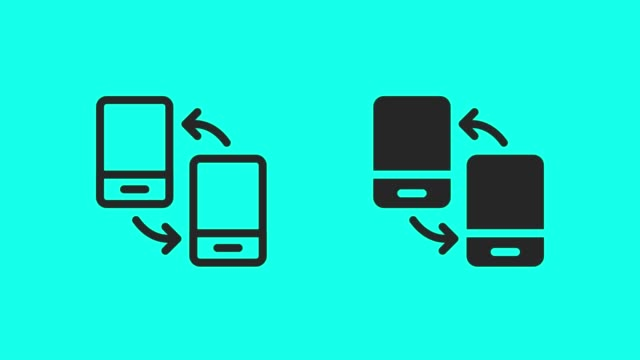 Mobile Data Transfer Icons - Vector Animate