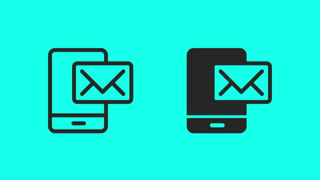mobile mail icons - vector animate - file stock videos & royalty-free footage